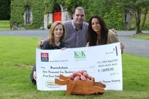 K&K Produce cheque handover