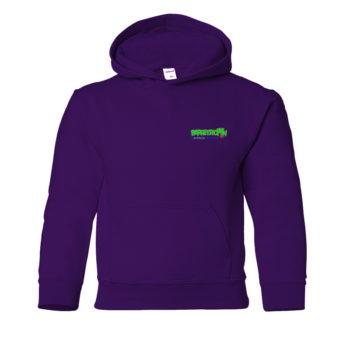 Kids Purple Hoodie Back
